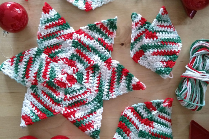 STAR TABLE DECORATION – FREE PATTERN